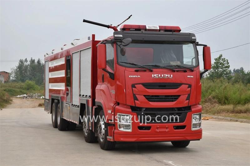 12 tyre ISUZU GIGA Fire rescue vehicle