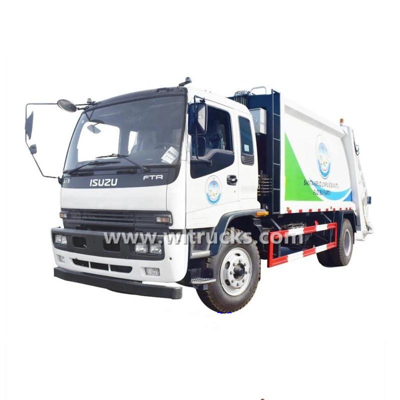 Isuzu 12cbm compactor garbage truck